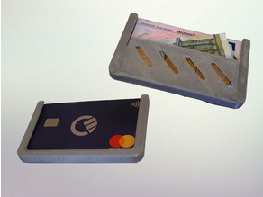 Slim & minimalist Wallet - 3 Card Holder with coin/banknote clip