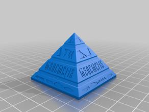 Stargate Pyramide als Deckel für einen Petling