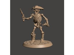 28mm Undead Skeleton Pirate Miniature