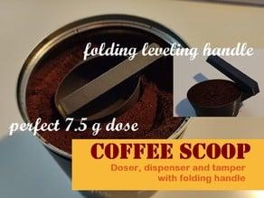 Folding coffee doser scoop