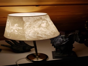 Lampenschirm E14 Lampshade Sexy Gothic Style Lithophan