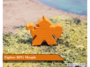 Fighter Meeple - RPG - DnD
