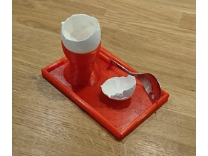 Egg cup with spoon holder v3