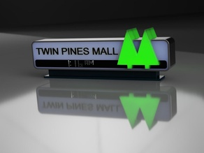 Carlz Twin Pines Mall Reversible Sign