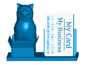 Cat in a Box Business Card Holder (Expandable)