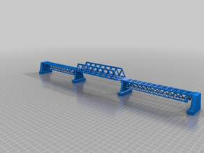 N-Scale Concrete and Steel Truss Bridge