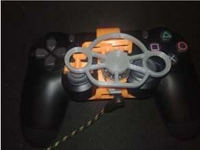 PS4 steering wheel with headphone jack on controller wheel