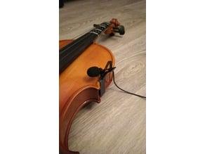 Violin mic mounting clip