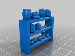 Shelves with ressources