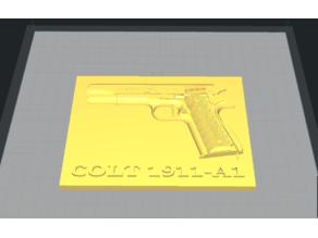 Colt 1911-A1 Plaque