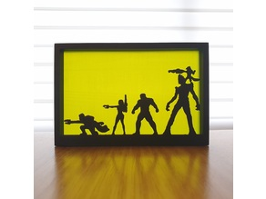 Guardians of the Galaxy Silhouette art