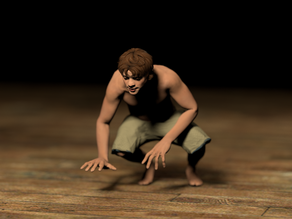 Man Crouching
