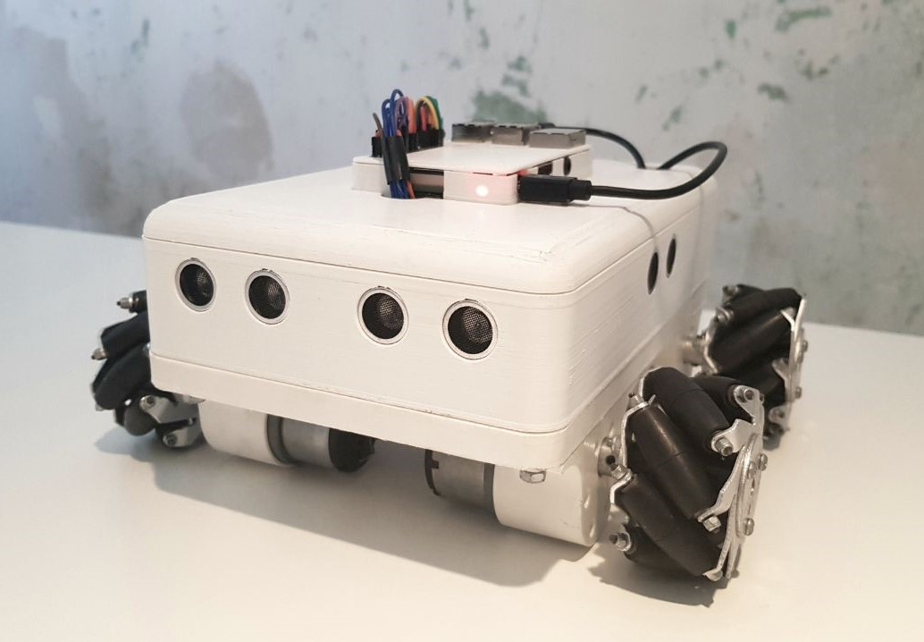 Omnidirectional Selfdriving Robot With Mecanum Wheels