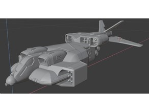 """UD-4L Marine Dropship """"Cheyenne"""" From the Aliens movie"""
