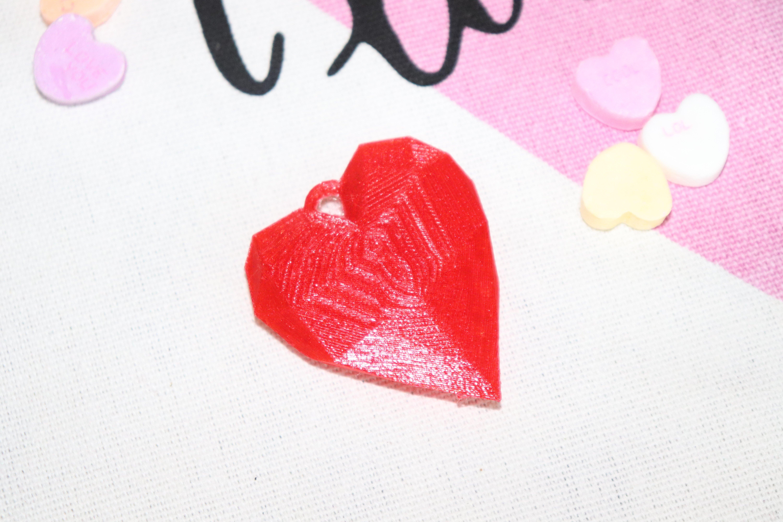 Heart Pendant low polygon