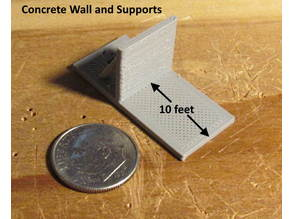 N Scale - Bare 10 Foot Deck with a  concrete wall for switch Machine