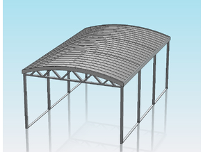1:32 SCALE CURVED ROOF CARPORT