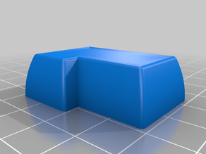ANSI Enter keycap with stems centered to top side