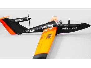 RC airplane Windex 1200c Fuselage - RC glider - 3D printable