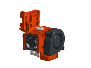 E3D V6 bowden extruder mount with BLTouch (new version)