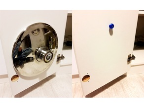 Lid holder on the kitchen cupboard door