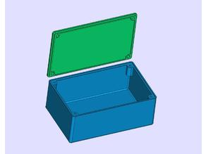 Parameterized box for electronic projects (FreeCad)