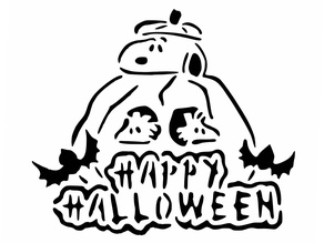 Snoopy Halloween stencil