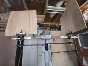 vertical wind-turbine timing belt prototype