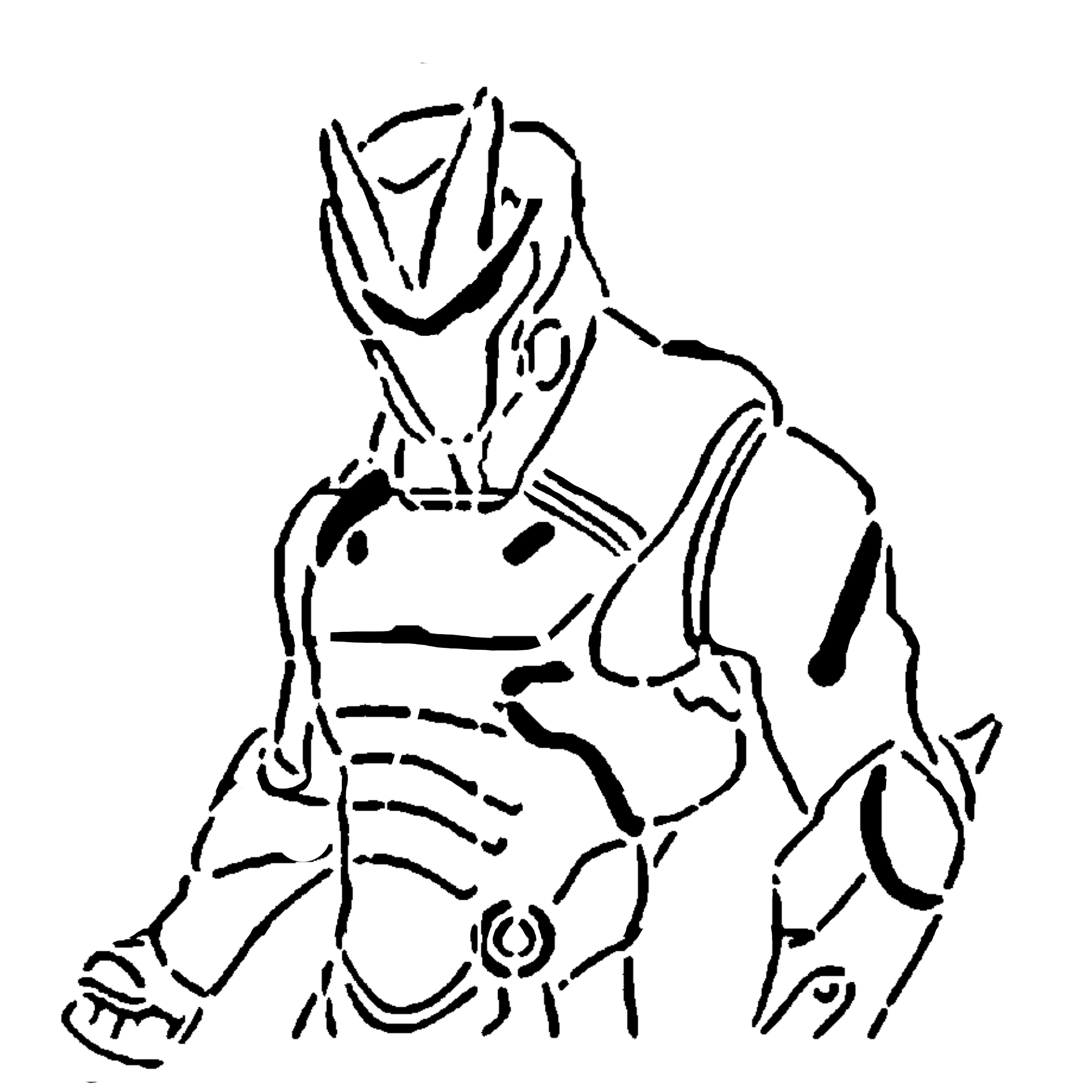 Omega Armor stencil