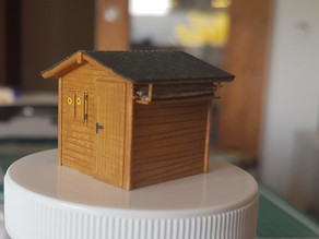 Garden Shed 1/87 scale (H0)