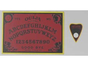 Multi-Material Ouija Board and Planchette Set