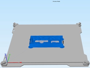 Lulzbot TAZ 5/6 and Mini / Mini2 - Build Plate for use with Simplify3D