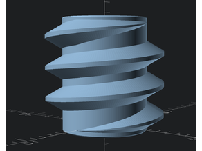 Customizable Polygonal Helix/Thread