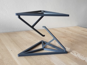 Tensegrity - Impossible table (Hidden wire and tensioner)