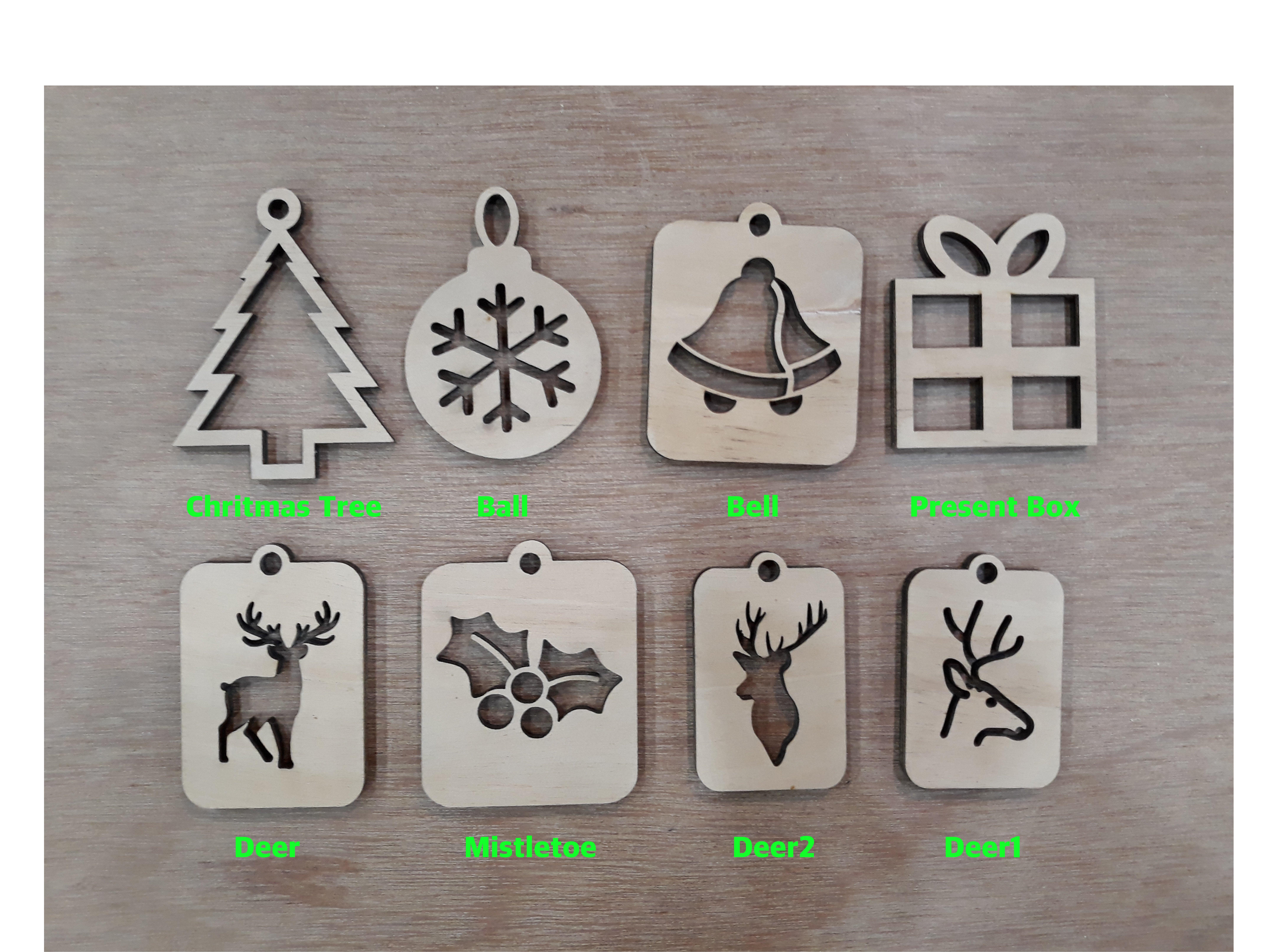 Lasercut Christmas Ornaments(.dxf)