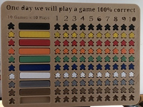 Board game 10x10 challenge
