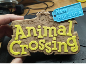 Colourful, textured Animal Crossing Sign or Box (for single extruders)