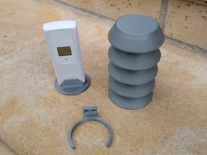 Weather Sensor Protection Shield with Mount