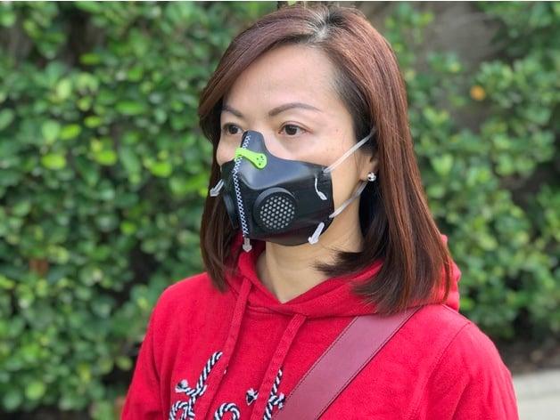 masque flexible avec filtre hepa