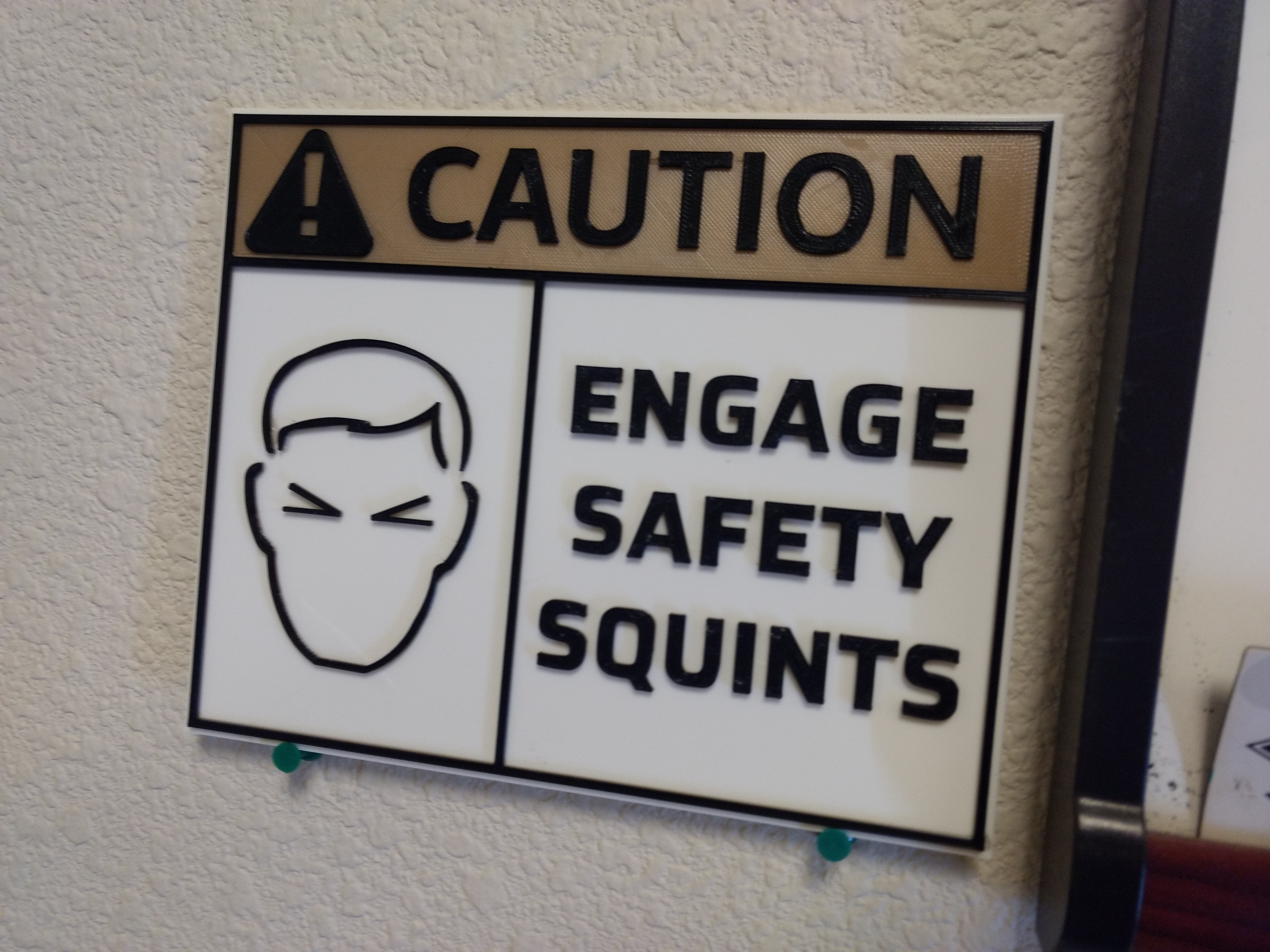 3-Color Safety Squints Sign