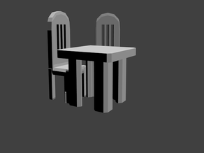 Dungeon Pegs Table & Chairs