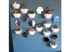 Tiled Geometric Wall Planter