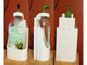 Equate 34oz or Target 32oz Hand Sanitizer holder - Anti-theft Wall Mount Remix - NEW VERSION