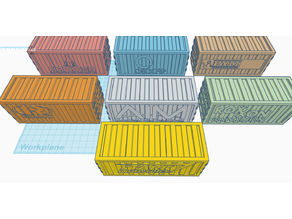 Marvel Crisis - 40mm Shipping Containers with Logos