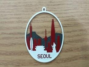 Christmas Ornament - Seoul Skyline