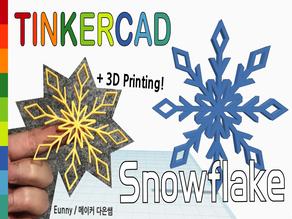 Snowflake with Tinkercad