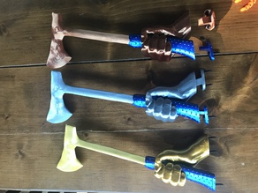 Multi-color Axe Trophy