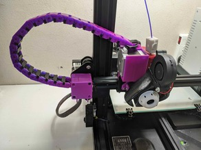 Creality ender 3 / cr-10 direct drive with cable chain Smooth Fang
