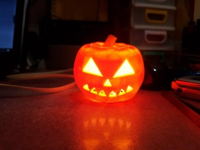halloween Pumpkin candel attiny13