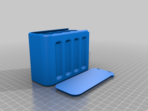 18650 Battery Storage slide top box remixed for 5s2p